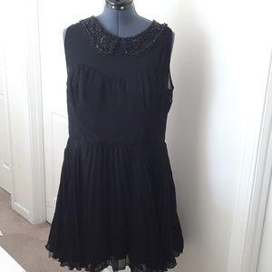 Asos Curve black sleeveless dress